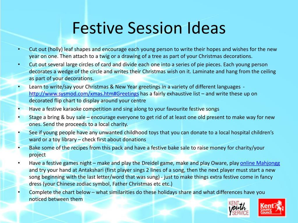 Festive Session Ideas