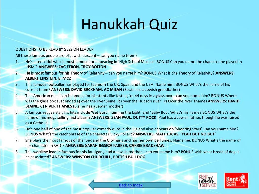 Hanukkah Quiz