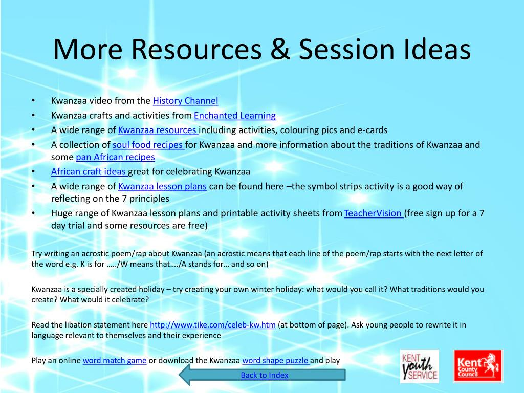 More Resources & Session Ideas