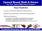 upward bound math science not your typical high school graduate
