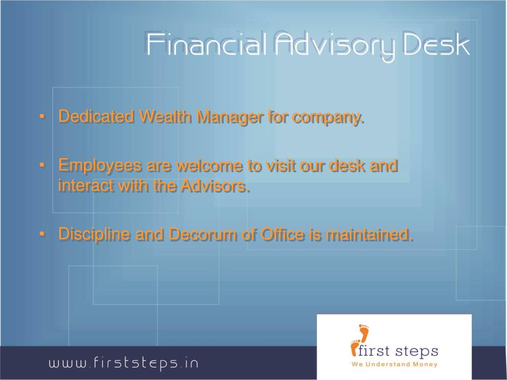 Financial Advisory Desk