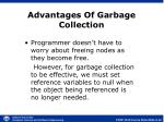advantages of garbage collection