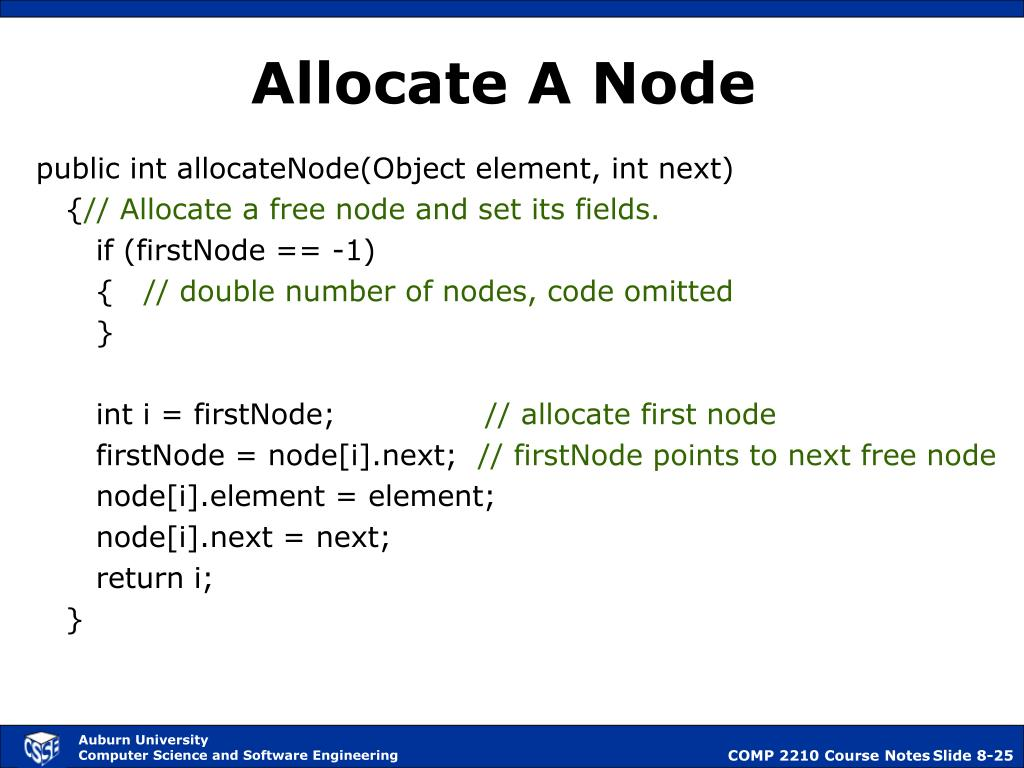 Allocate A Node