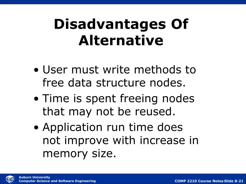 Disadvantages Of Alternative