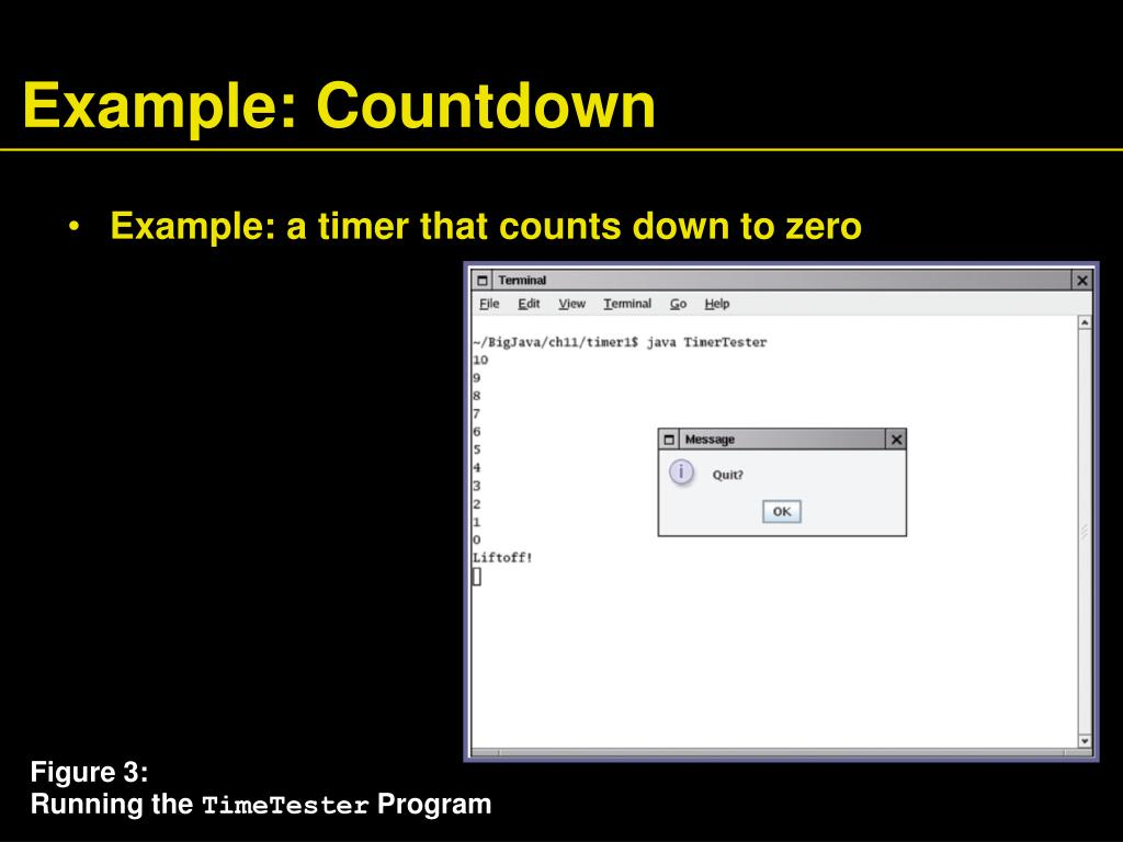 Example: Countdown
