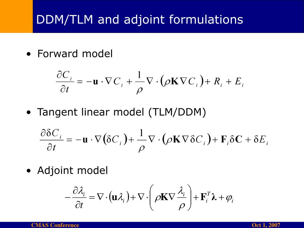 DDM/TLM and adjoint formulations