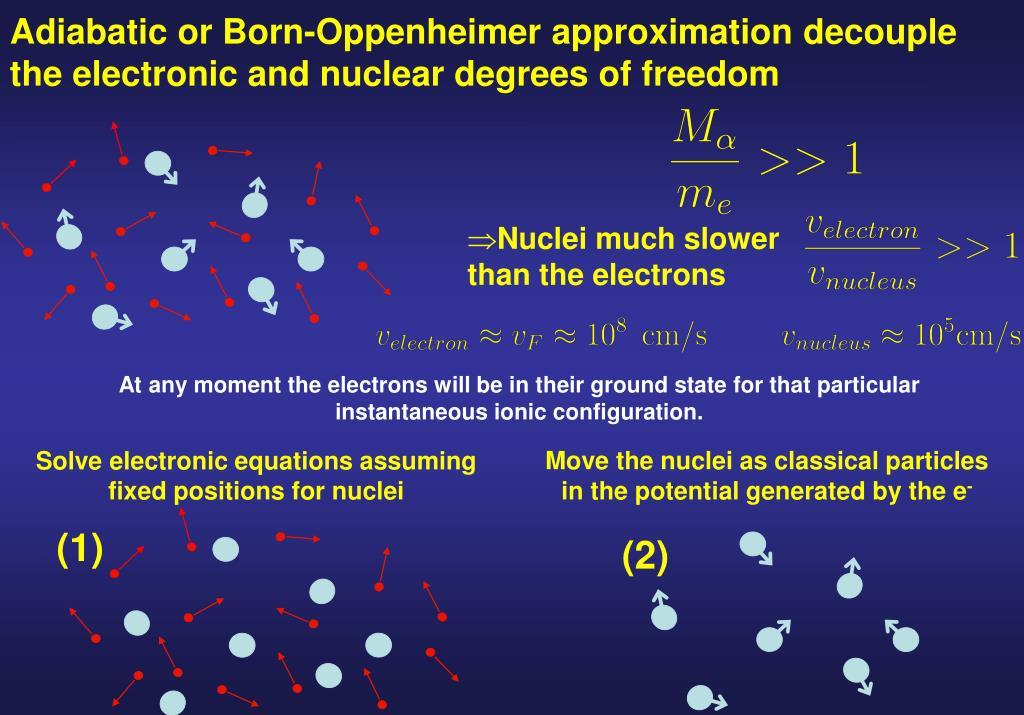 Adiabatic or Born-Oppenheimer approximation