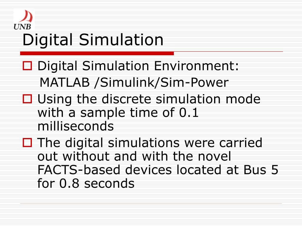 Digital Simulation