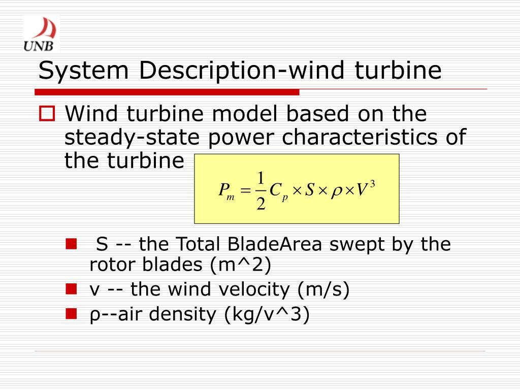 System Description-wind turbine