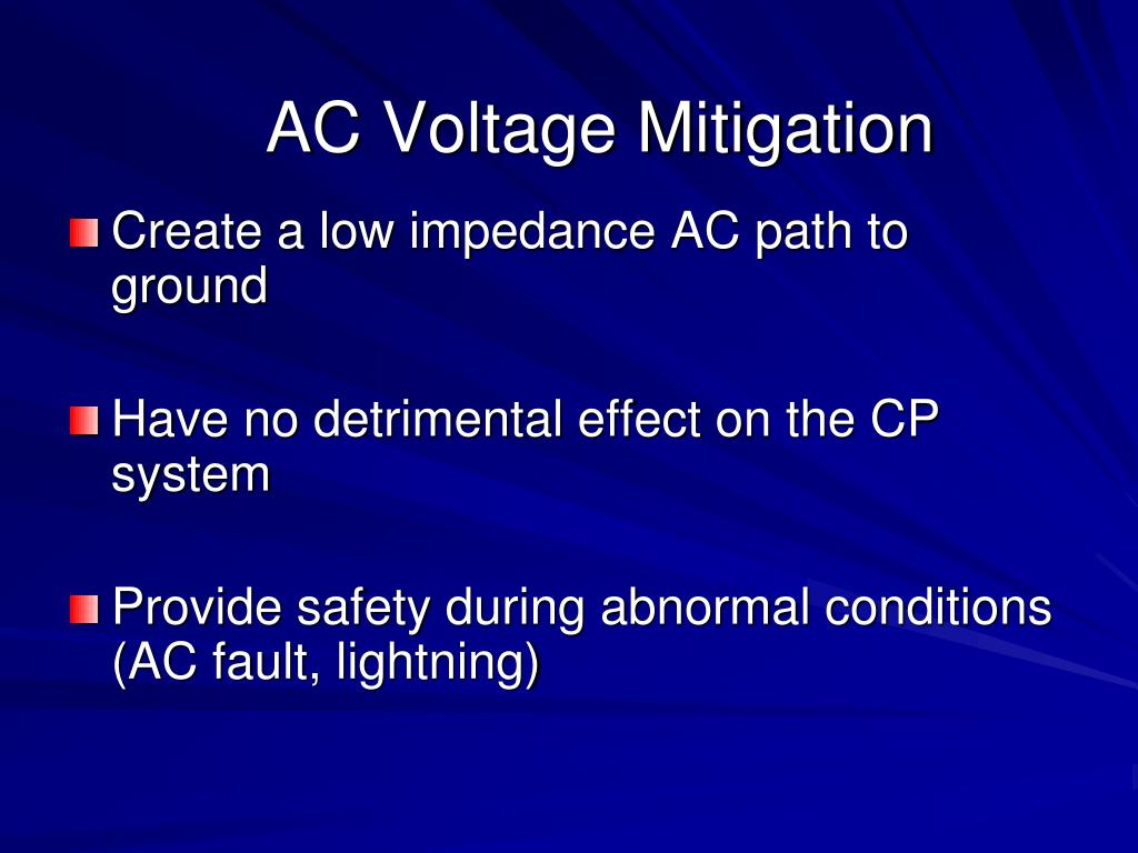 AC Voltage Mitigation