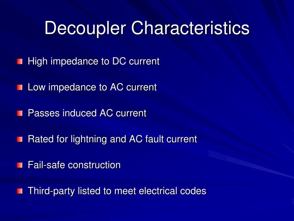 Decoupler Characteristics