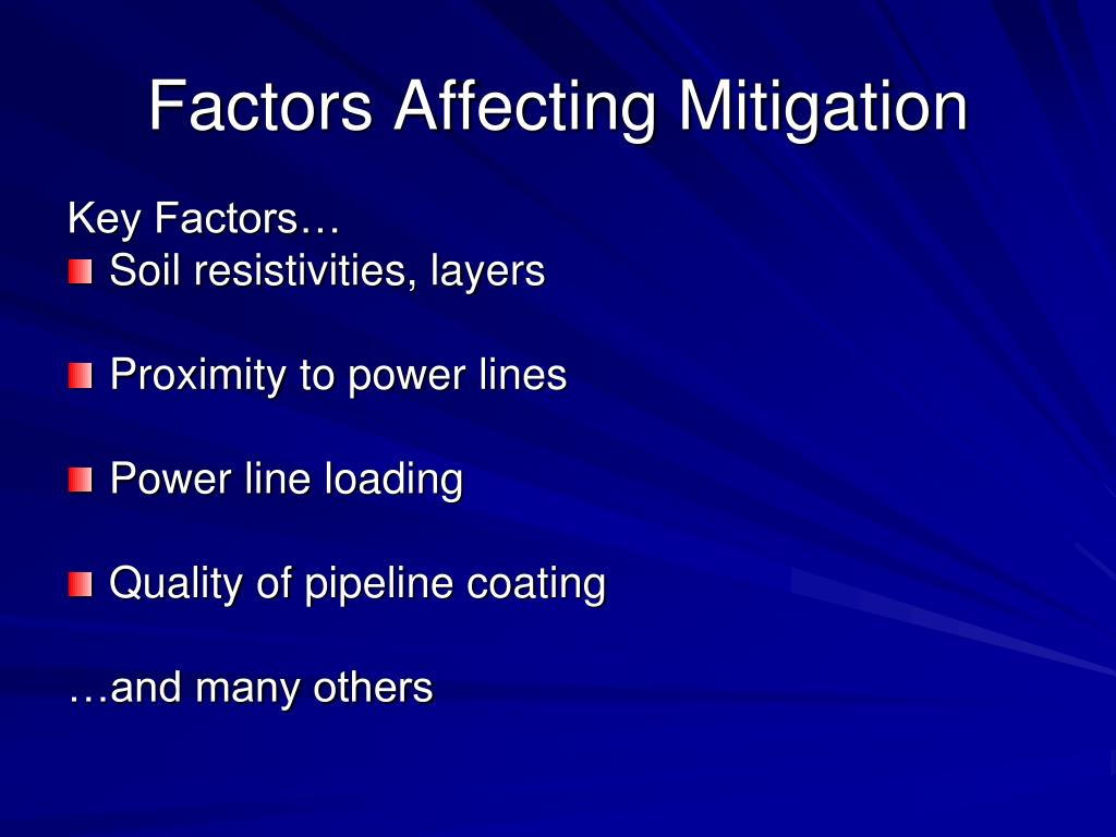 Factors Affecting Mitigation