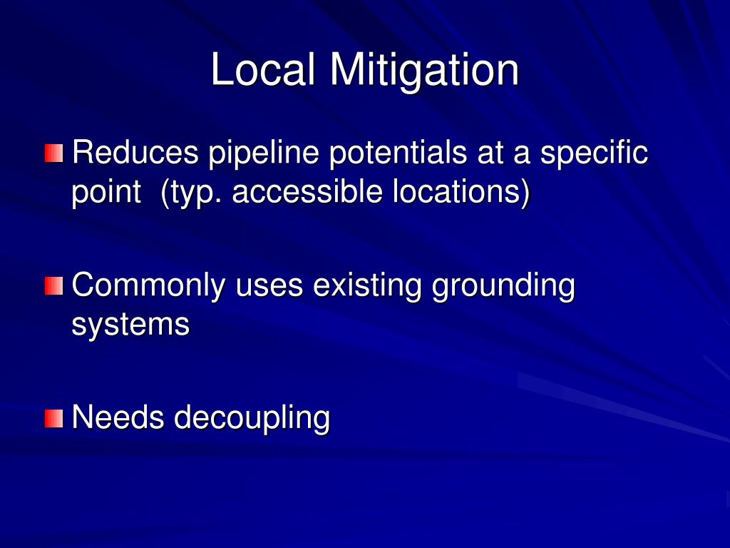 Local Mitigation