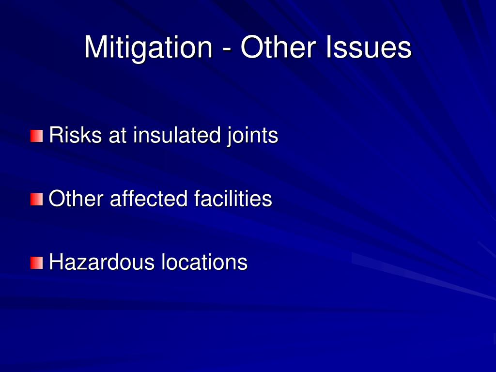 Mitigation - Other Issues