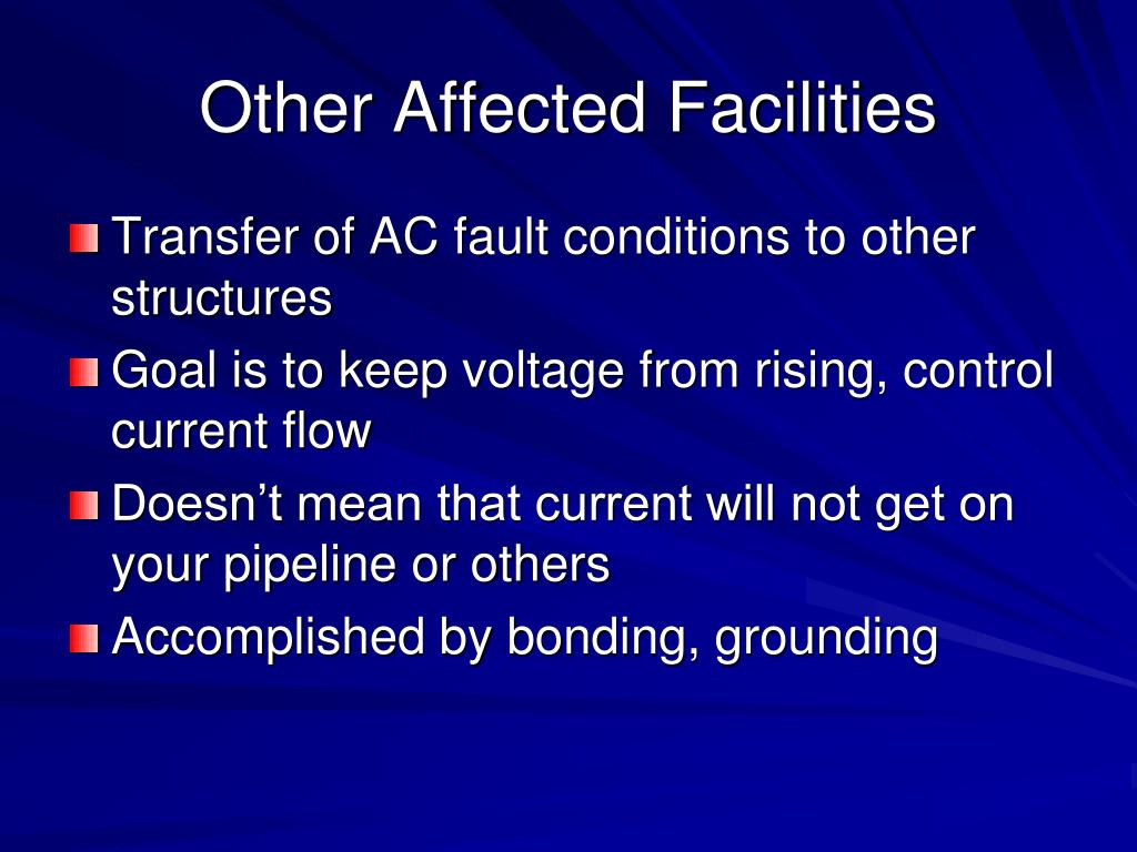 Other Affected Facilities