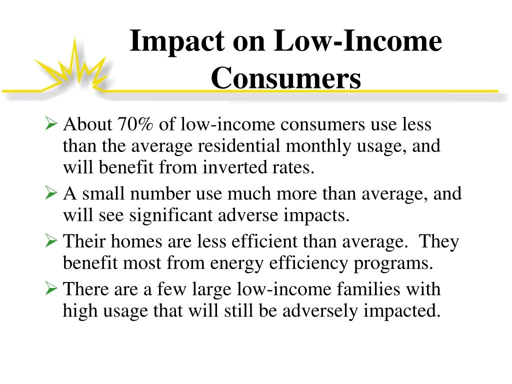 Impact on Low-Income Consumers