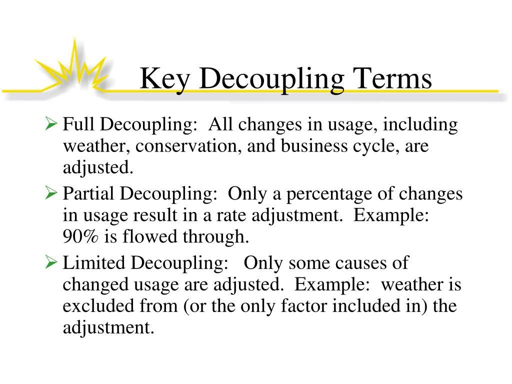Key Decoupling Terms