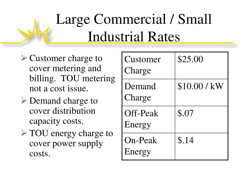 Large Commercial / Small Industrial Rates