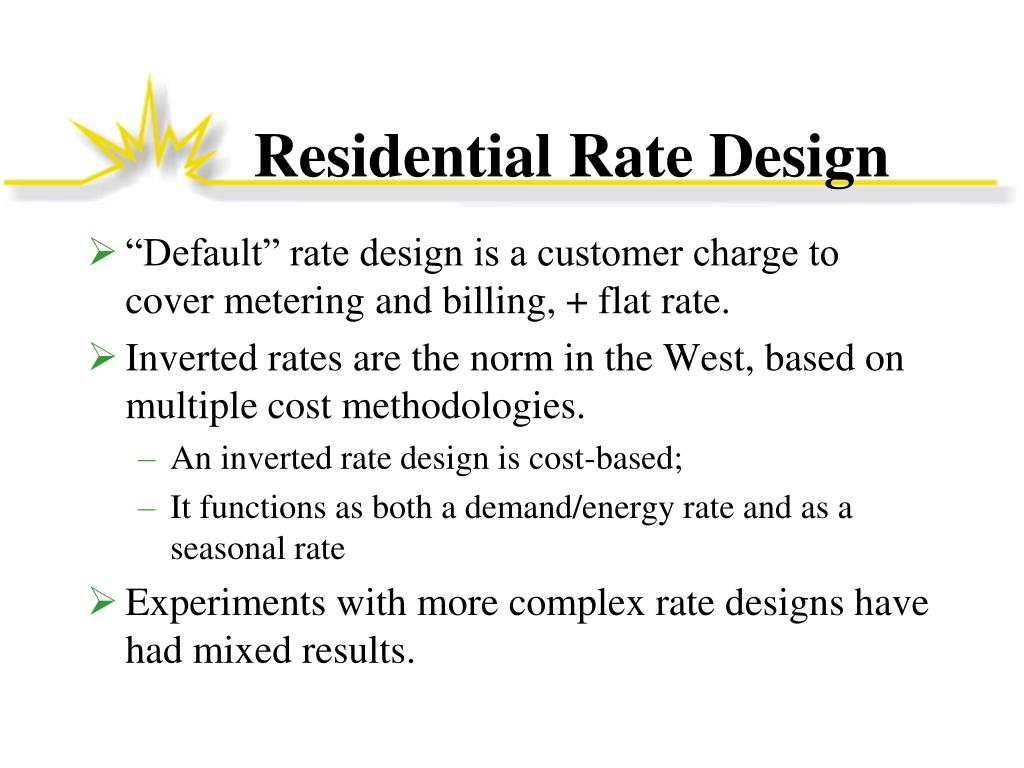 Residential Rate Design