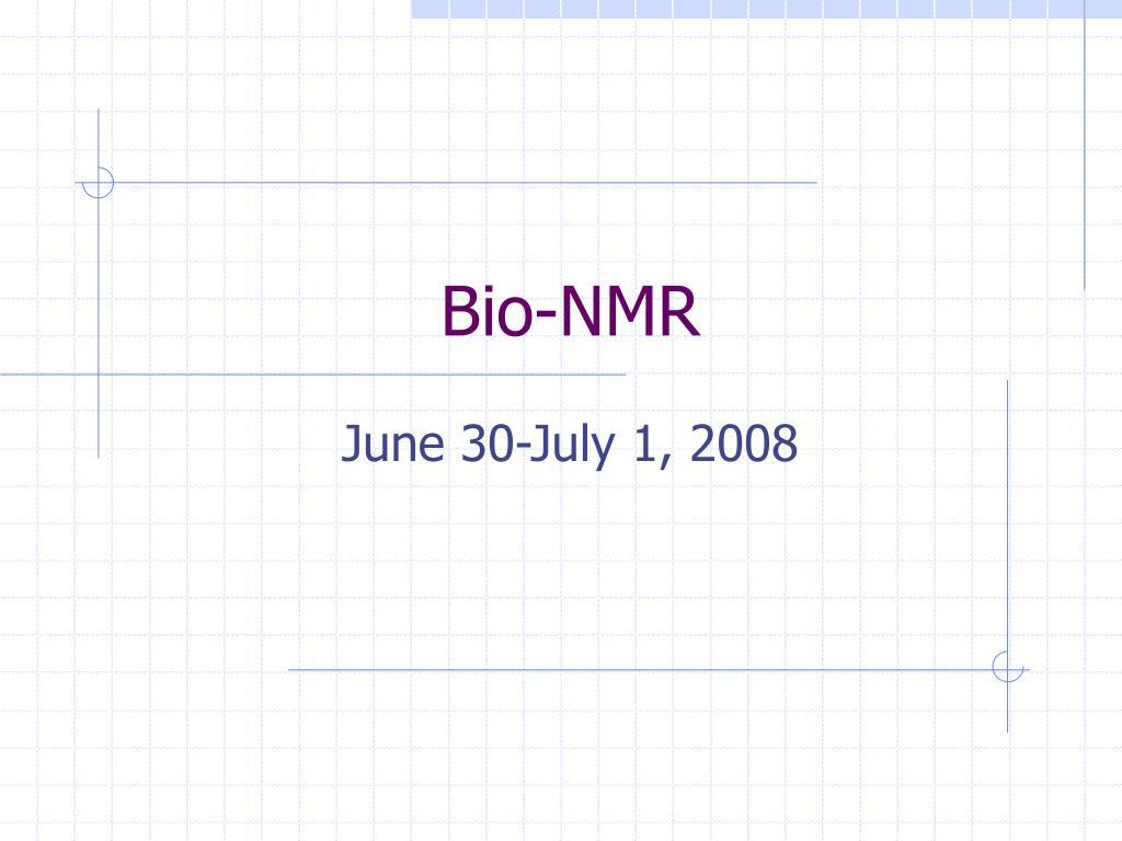 Bio-NMR