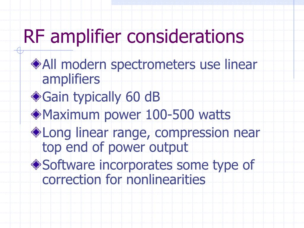 RF amplifier considerations