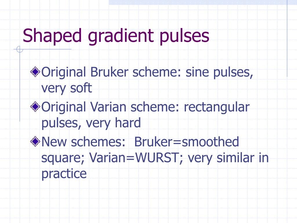 Shaped gradient pulses