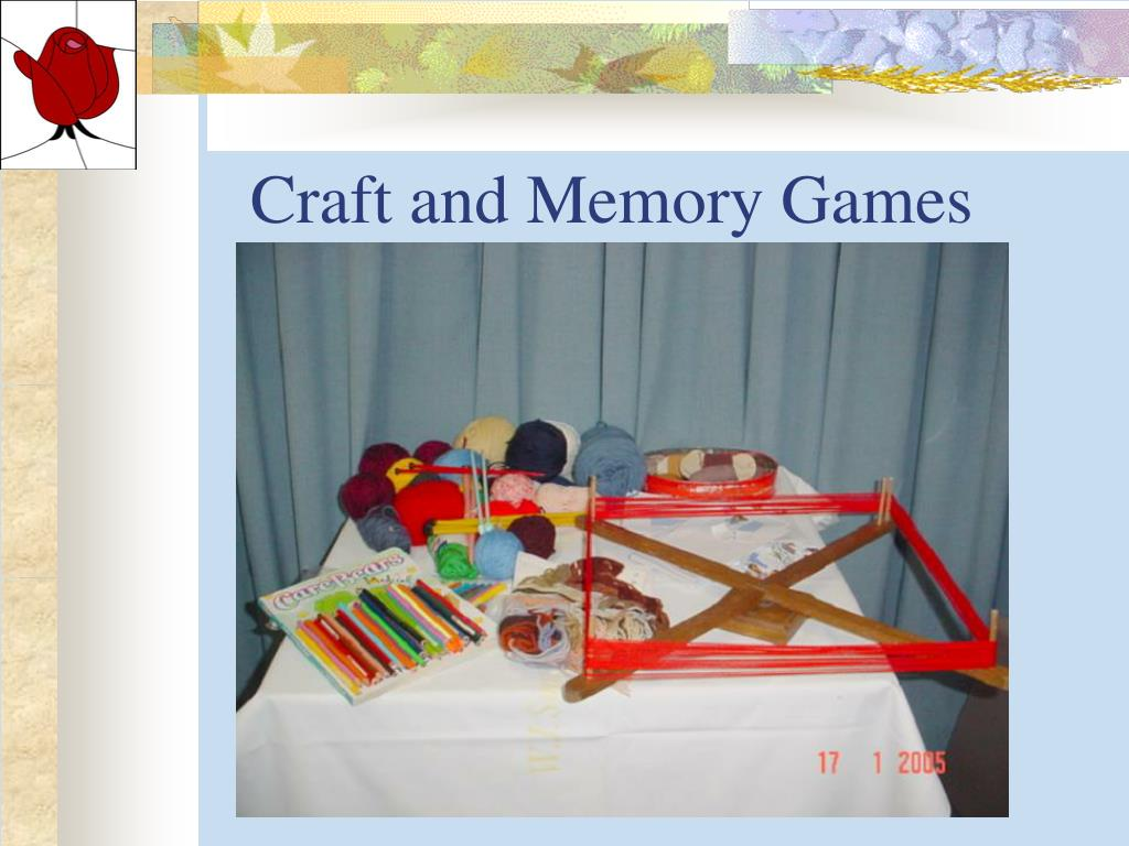 Craft and Memory Games