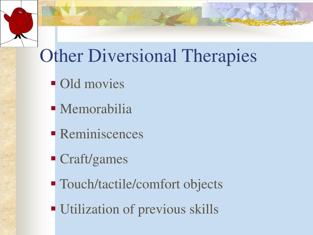 Other Diversional Therapies