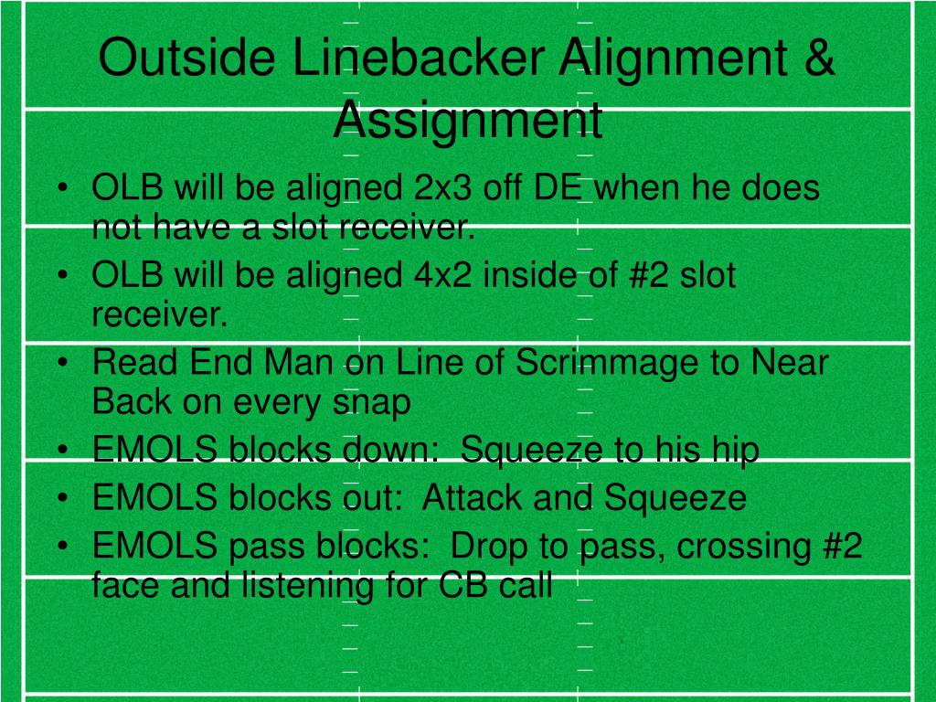 Outside Linebacker Alignment & Assignment