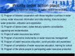 priority order action plans according to national strategy on water resources to 202020