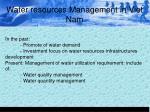 water resources management in viet nam