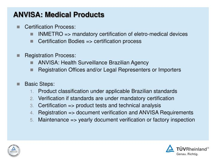 ANVISA: Medical Products