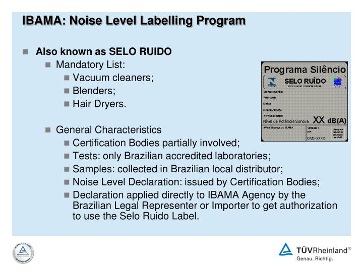 IBAMA: Noise Level Labelling Program