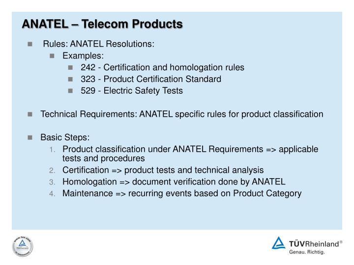 ANATEL – Telecom Products