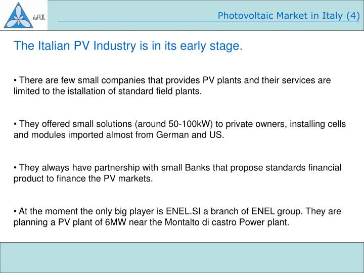 Photovoltaic Market in Italy (4)