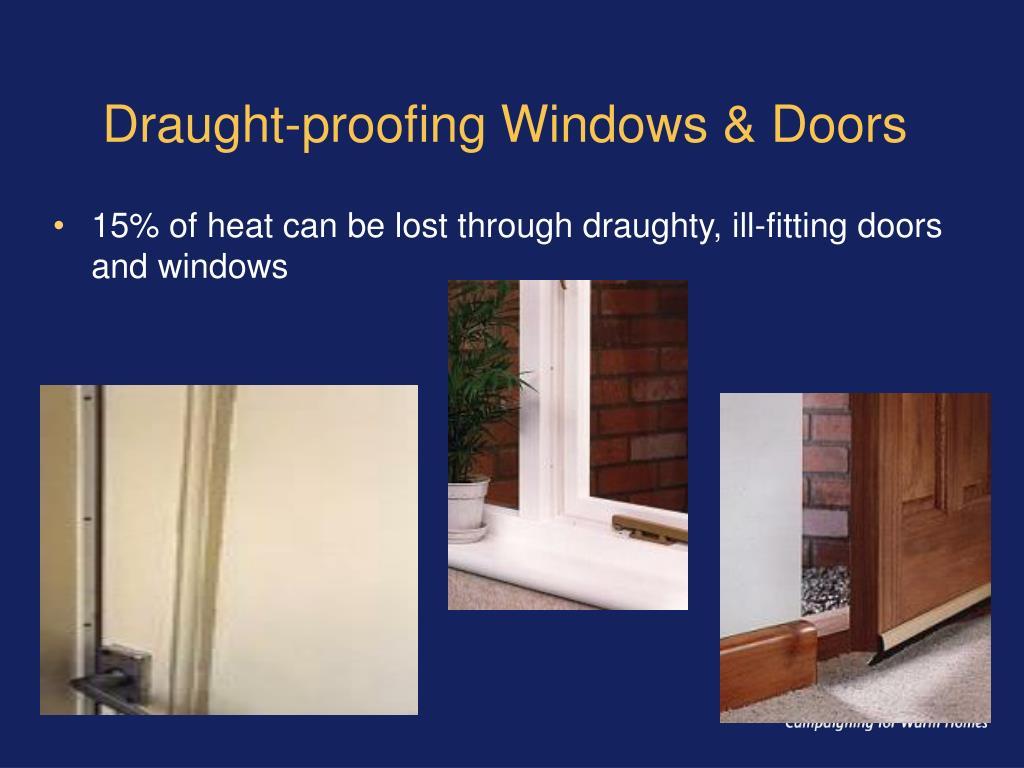 Draught-proofing Windows & Doors