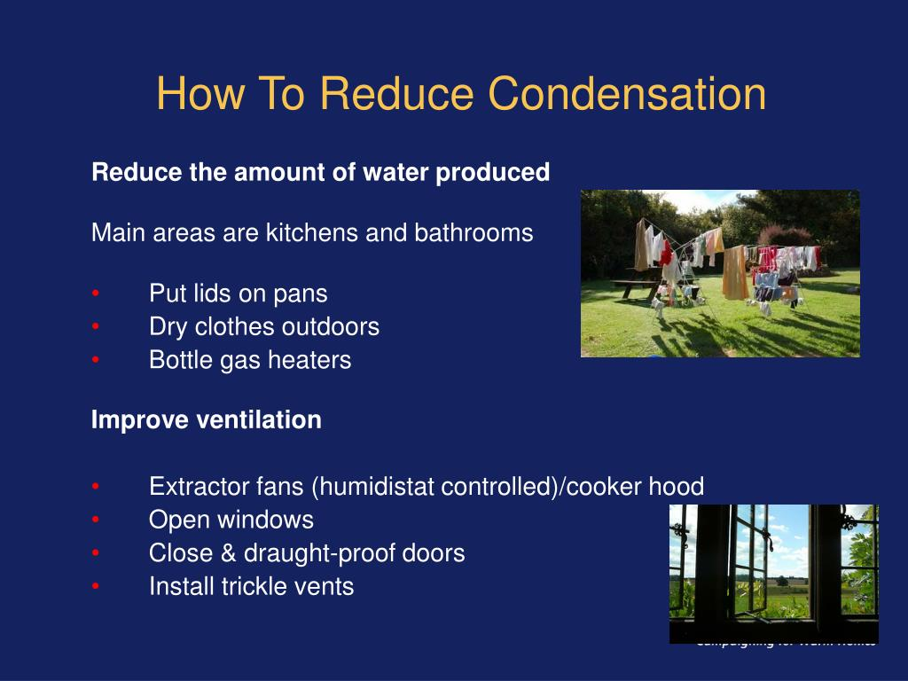 How To Reduce Condensation
