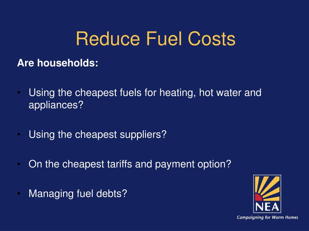 Reduce Fuel Costs