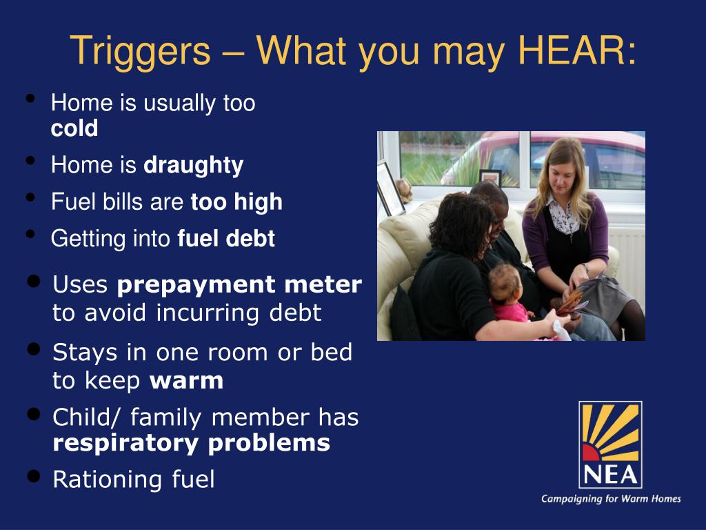 Triggers – What you may HEAR: