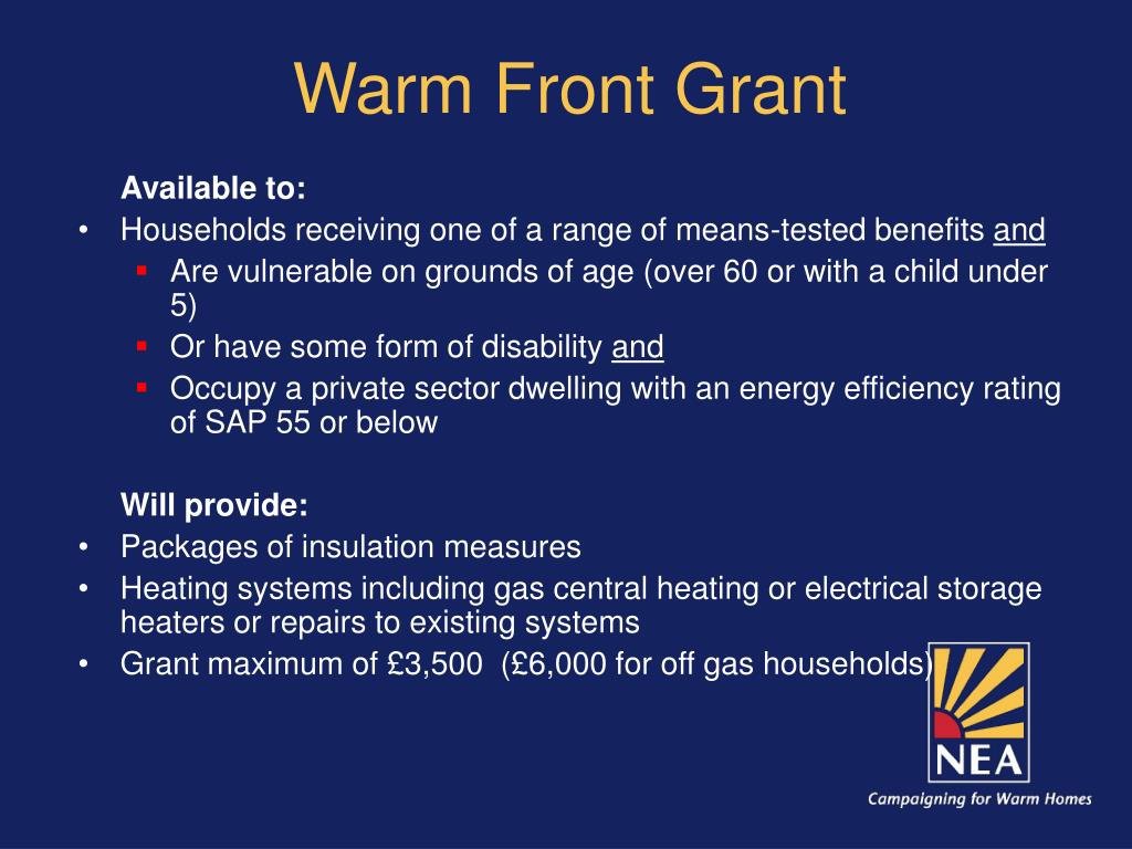 Warm Front Grant