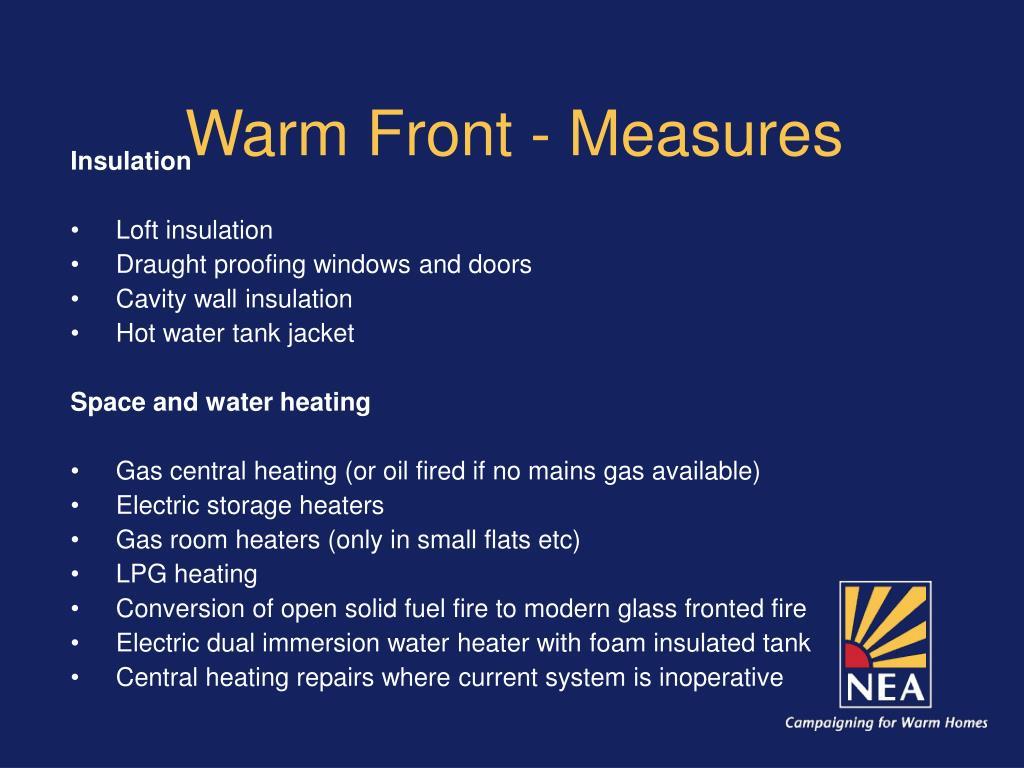 Warm Front - Measures