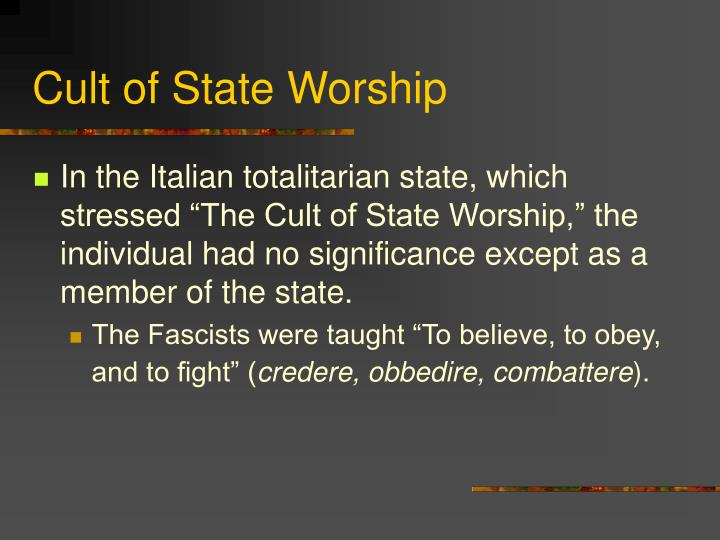 Cult of State Worship