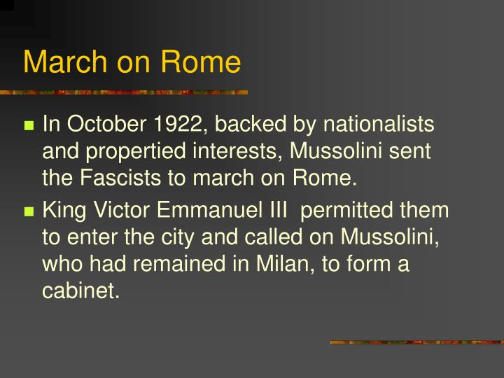 March on Rome
