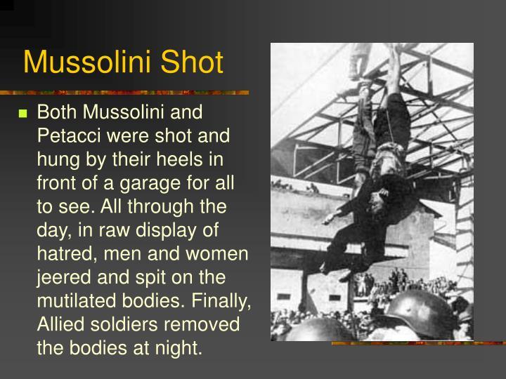 Mussolini Shot