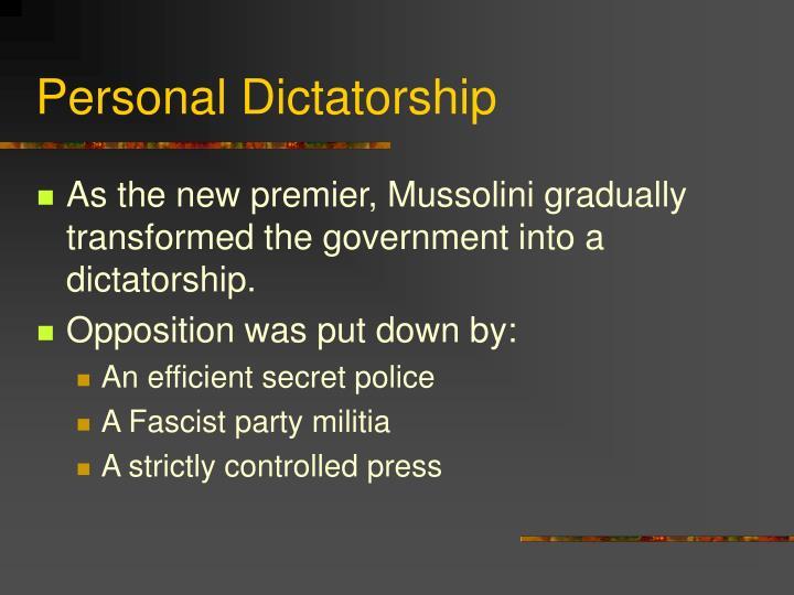 Personal Dictatorship