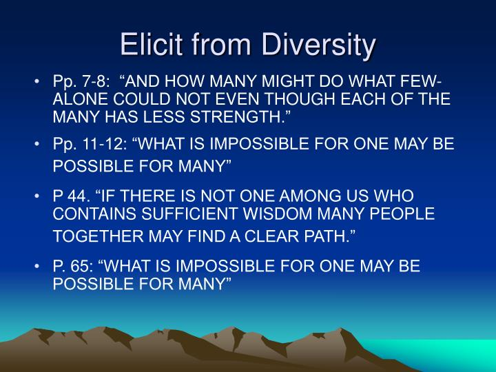 Elicit from Diversity