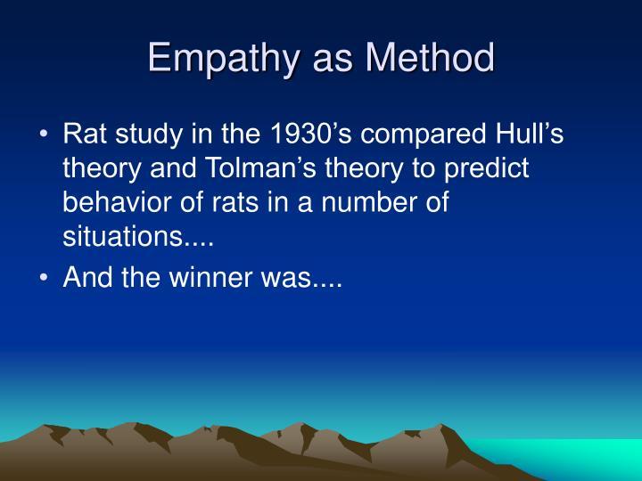 Empathy as Method