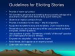 guidelines for eliciting stories