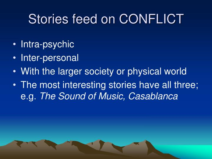Stories feed on CONFLICT
