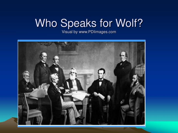 Who Speaks for Wolf?